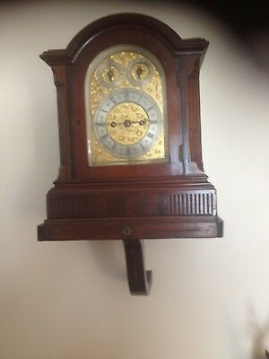 Antique Double Fusee Circa 1880 Bracket Clock With Bracket