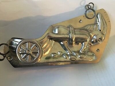 Antique Vintage metal DONKEY Burro Mule  Chocolate MOLD  F. Cluydts rare