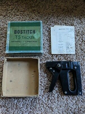 Vintage Bostitch T5 series 3 tacker self feeding Trigger Action