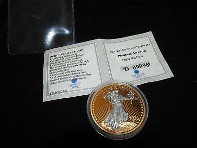 American Mint1933 Gold Double Eagle Platinum-Accented Coin Proof Copy