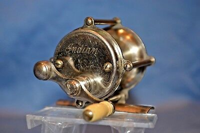 Nice Old Vintage Antique Montague Indian 40Yd Fishing Rod Reel Collectible Lure