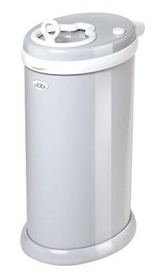 Ubbi Diaper Pail in Grey, No Special Bags Needed, Gray