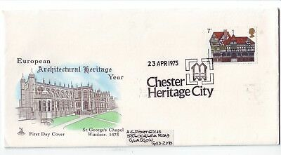 1975 - European Architectural Heritage Year (Mercury Covers) - FDC - Used - A056