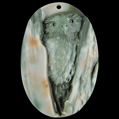 Carved Owl Bead C EJ503057