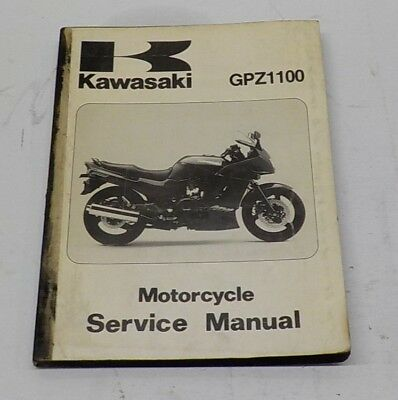 genuine kawasaki 1995 gpz1100 zx1100-e1 service manual