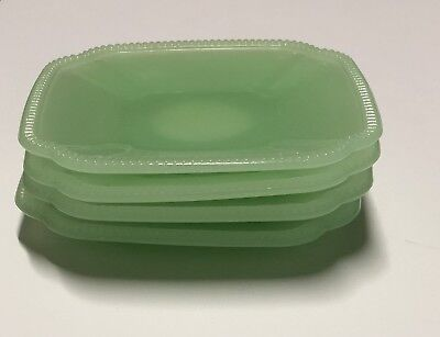 Hearth & And Hand Magnolia Glass Appetizer Plate Rustic Jadeite Green - Lot Of 4