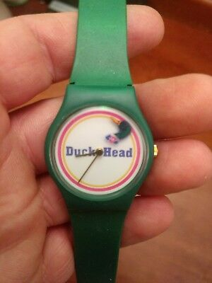 Tested RARE Vintage Duck head apparel/ brand  green wrist watch.