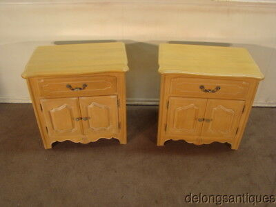 50722:Ethan Allen Solid Maple Pair of French Style Night-Stands