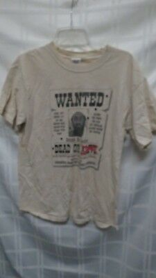 Vintage 2001 Wanted Dead Or Alive Osama Bin Laden Graphic T-Shirt Size M