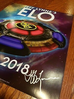 Jeff Lynne's ELO 2018 official tour poster SIGNED!  Not a T-shirt