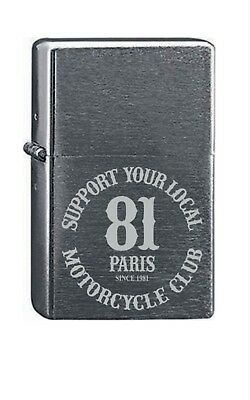 Briquet essence SUPPORT 81 Paris gravé