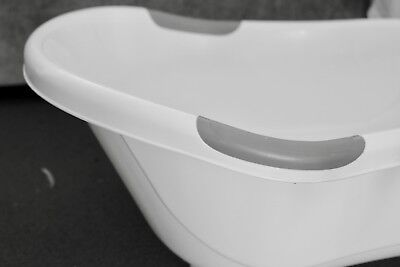 Tippitoes White and Grey Standard Baby Bath Tub