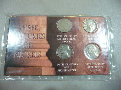 Three Centuries Of Nickels Set  FREE SHIPPING