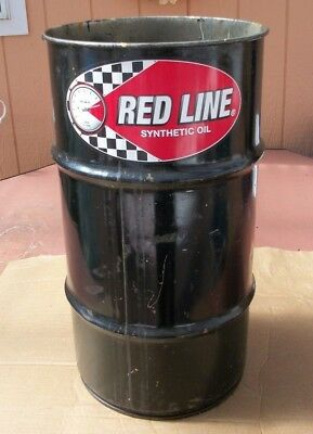 "Original RED LINE Oil Synthetic Lubricant Oil girl Drum Barrel sign 28""x15"""