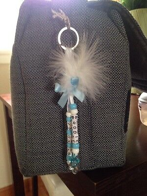Hand Made Personalised New Baby Boy Changing Nappy Diaper Bag Charm