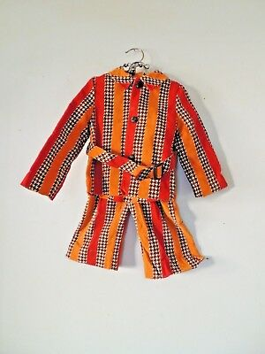 Vtg 70s MERRY MITES Young World Houndstooth Corduroy Jacket Pants Jacket Suit