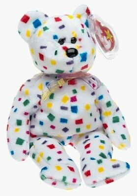 Ty 2K the Confetti Bear - Ty Beanie Baby. Beanie Babies. Shipping is Free