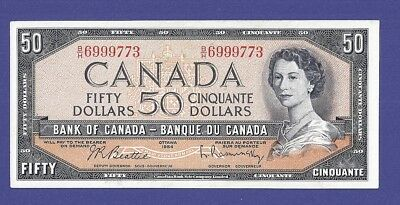 Gem Uncirculated 50 Dollars 1954 Banknote From Canada