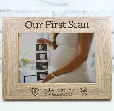First Scan Personalised Engraved Photo Picture Frame New Baby Scan Ultrasound