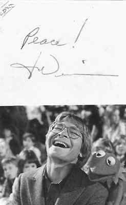 John Denver...genuine Hand Signed Picture Card...vintage....scarce...