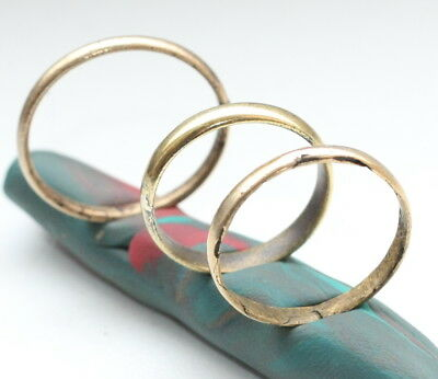 Group Of Antique Bronze Brass Polished Rings