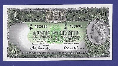 Gem Uncirculated 1 Pound 1953 Banknote From Australia