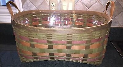 LONGABERGER AMERICAN CRAFT TRADITIONS~HARVEST WEAVE~BLANKET BASKET~w/PROT!