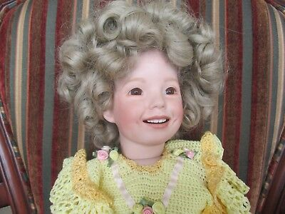 OOAK Porcelain Shirley Temple Doll 26 inches Mint condition
