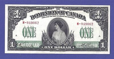 Superbe 1 Dollar 1917 Banknote From Canada