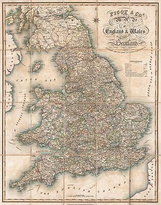 A4 Reprint of England And Wales Plus Part of Scotland Pigot & Co.