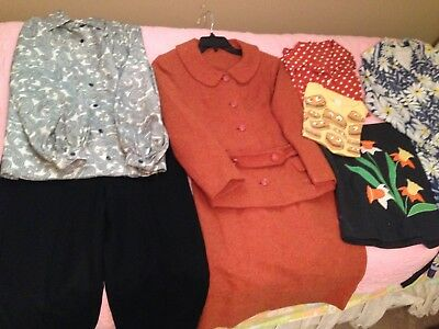Lot of Small Ladies Vintage Clothes, Never worn Panther Wool Lined Pants, Dress!