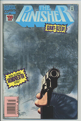 The Punisher #100 Silver Foil Cover! Very Nice Condition! Save On Shipping!!!