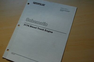 cat caterpillar 3176 truck engine electrical schematic wiring diagram manual