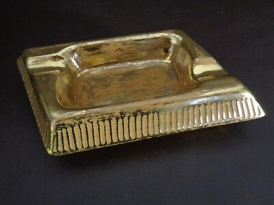 Vintage Granada Gold Stangl Hand Painted Ashtray (Cat.#4A041)