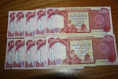 250,000 IQD - (10x) 25,000 IRAQI DINAR Notes - AUTHENTIC UNCIRC - FAST DELIVERY