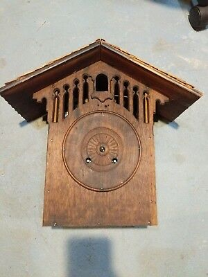 Antique Gothic Mantel Cuckoo Clock Spring Driven ?