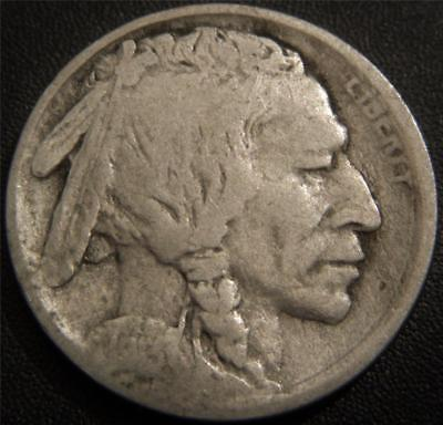 1913 Buffalo Nickel Type 2 (Plains) - A Partial Horn Still Shows on the Buffalo