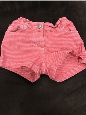 Mini Boden Red Engineer Heart Pocket Shorts - Size 5