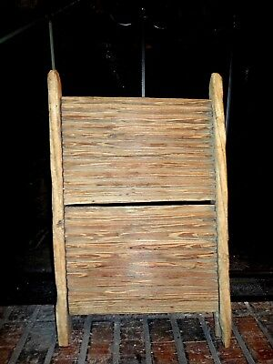 RARE 1800's ANTIQUE PRIMITIVE  Hand-carved Wood Washboard BEAUTIFUL HISTORICAL