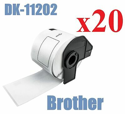 20 x Compatible Labels Brother DK-11202 DK11202 62mm x 100mm 300pcs/Roll White