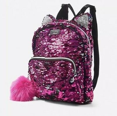 New Justice  Flip Sequin Kitty Mini Backpack So Pretty!🐱🐱🐱