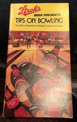 """Stroh's"" adv. booklet; looks 1970's; 36 pgs; VF; ""Tips on Bowling"""