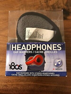 180s Behind The Head Ear Warmers ~ Black Stereo Headphones Available