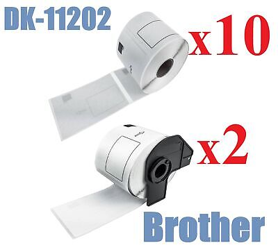 10+2 with holder x Compatible Labels Brother DK-11202 DK11202 62mm x 100mm /300