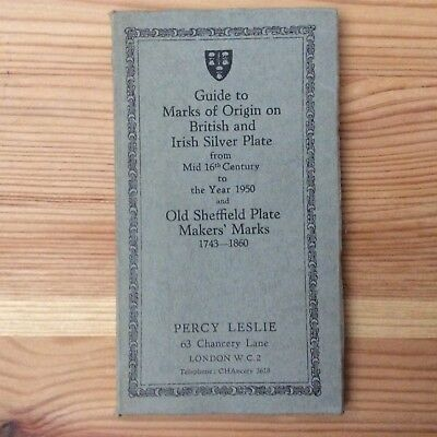 BRITISH and IRISH SILVER ASSAY OFFICE MARKS 1544-1950 guide 1950