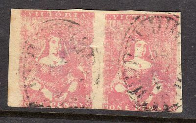 Victoria Half length 1d red pair , Campbell & co. ?