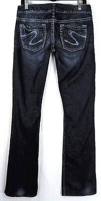 """Silver Women's Jeans Size 29 / 35 Long Inseam Tuesday 20"""" Low Rise Boot Cut"""