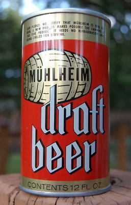 Minty Late 60's Muhlheim Draft Beer Pull Tab Beer Can! About Time You Upgraded!