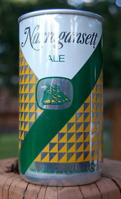 Unlisted Narragansett Ale Pull Tab Beer Can! Not Crimped At Top Lid!