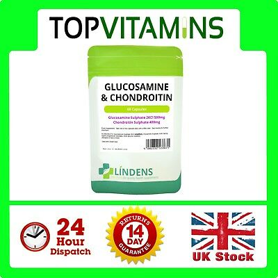 Glucosamine & Chondroitin 60 capsules ✰ Helps Joint Pain Arthritis Tablets ✰